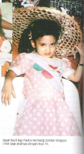 foto fasha sandha masa kecil