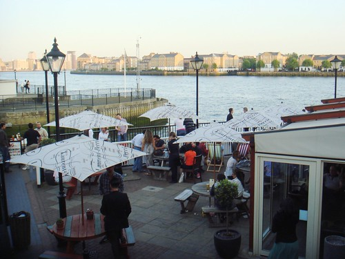 The view from The Narrow, Limehouse