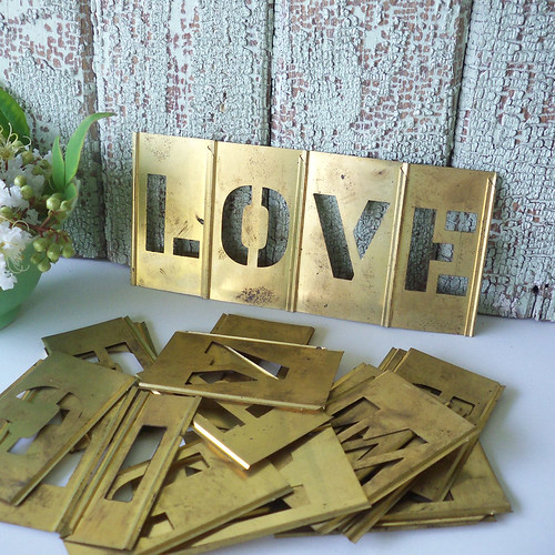 Brass Vintage Stencils from A to Z