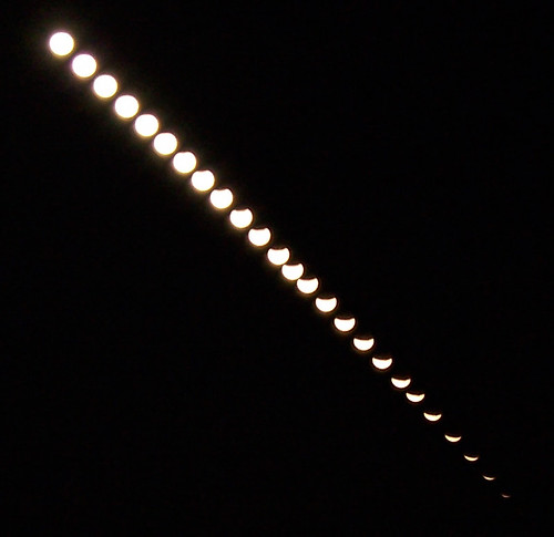 Time lapse image of the Lunar Eclipse on 8/28/07