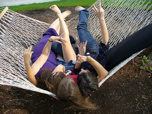 Three bloggers, one hammock