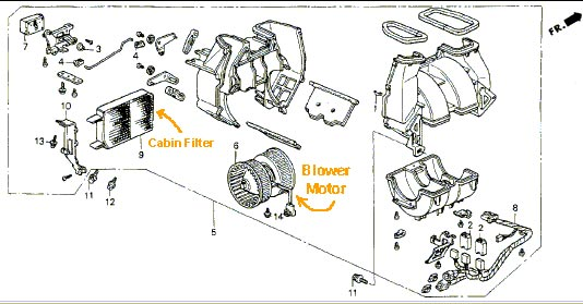 Service manual [1995 Acura Integra How To Remove Blower