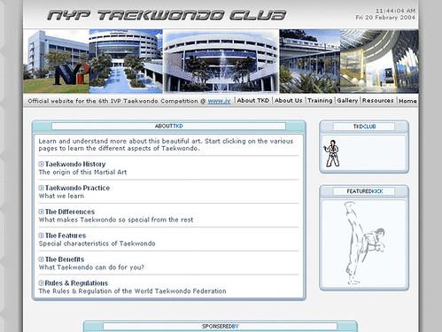 NYP Taekwondo Club Inner page