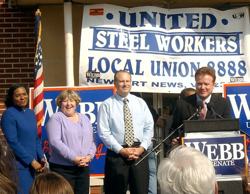 USW 8888 in Newport News Rally with Candidate Jim Webb