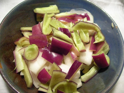 All good vegetable soup starts with an onion, garlic, pepper base