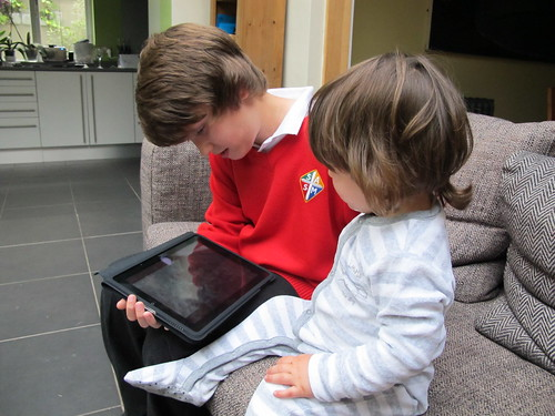 Two boys and an iPad
