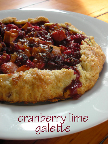 cranberry lime galette
