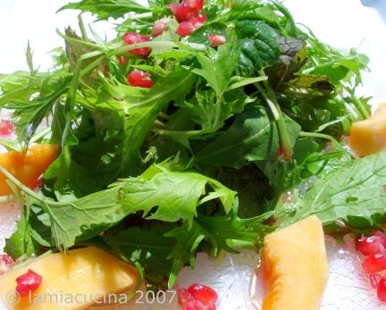 Sommersalate mit Granatapfelvinaigrette