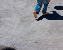 Boys Skateboarding Barefoot World Of