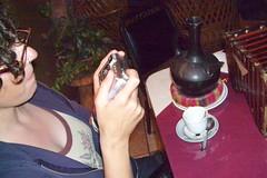 Jodi photographing her coffee