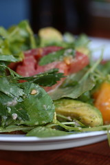 Watercress, Parsley, T omato, and Avocado Salad