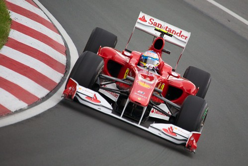 Fernando Alonso in his Ferrari.  He hasn't found the magic...yet.