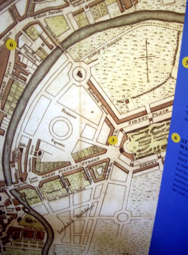 061029.075.Somset.Bath.25 Gay St.Jane Austen Centre.Original Plan for Bathwick