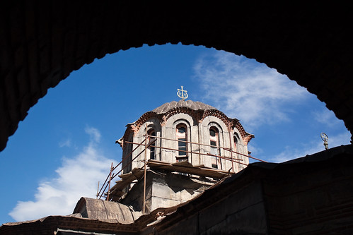 The dome of the church