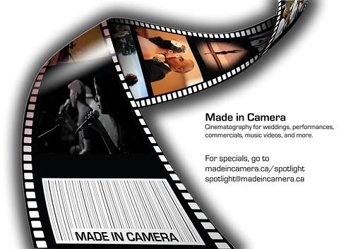 Made in Camera ad for Spotlight 2KX