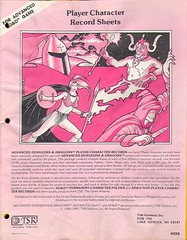 AD&D Player Character Record Sheets