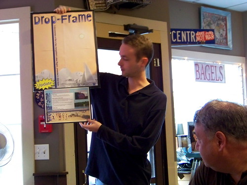 Discussing timlapse photography at NH Media Makers