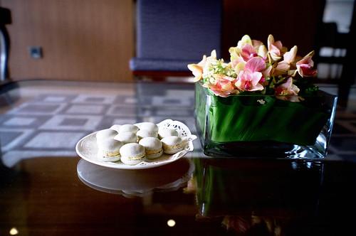 一盤奢侈的手製Macaron作為早餐的句點。