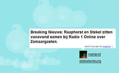 Vanavond om 8 uur bij Radio Online (Radio1)