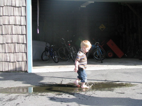Nothing better than splashing in a puddle