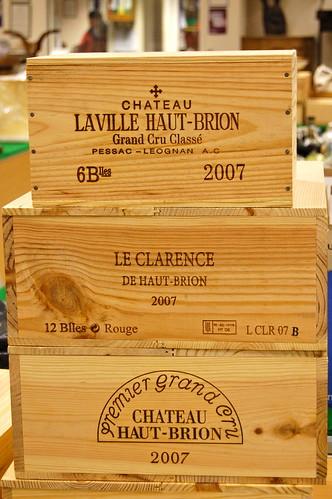 Cases of Chateau Haut-Brion Premier Grand Cru 2007 (est £2,000 per case), Chateau Laville Haut-Brion 2007 (£1,500 per half case) and Le Clarence De Haut-Brion 2007 (£500 per case)