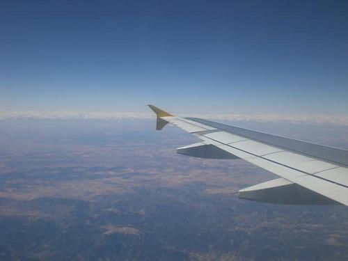 en el avion a valencia