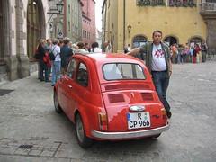 Sonntag Mike mit Fiat 500