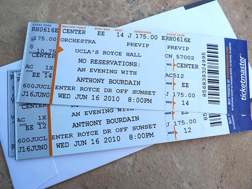 V.I.P. Tickets (worth every penny!)
