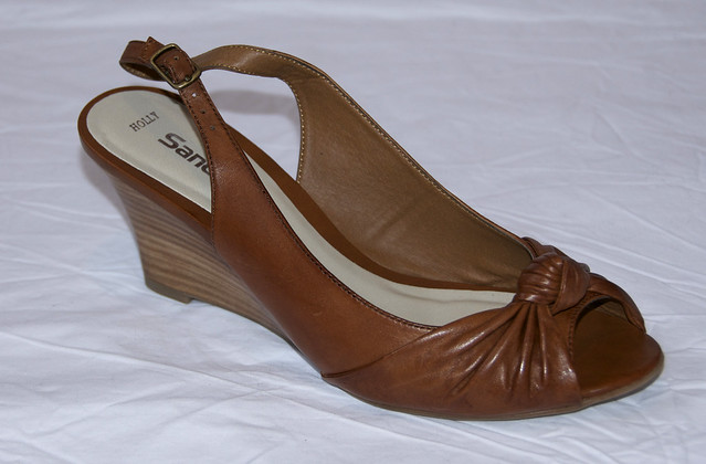 Tan Wedge Slingbacks