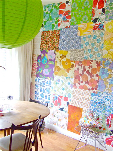 Wallpaper patchwork corner