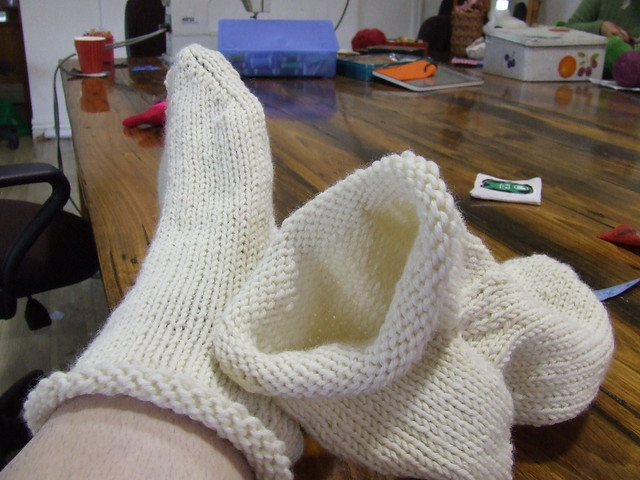 Giant slippers (before)