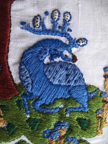 pocket - embriodery finished detail sleeping deer