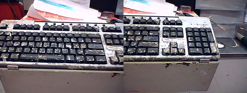 2007ish - painted keyboard at Home Depot (diptych)
