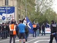 Manifestació de lampistes a Melbourne