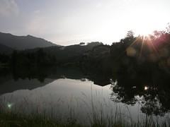 80.向天湖、夕陽以及倒影