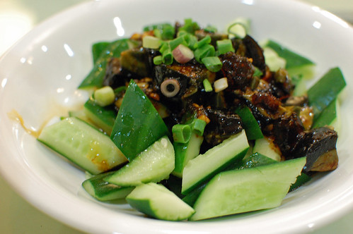 Cold Cucumber and Century Egg