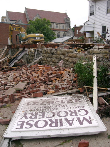 Mairose Bros Grocery is reduced to rubble on Monday July 23rd.