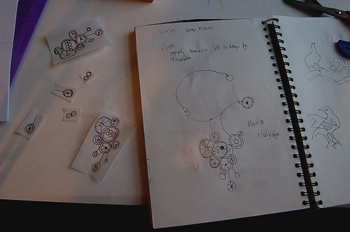 Beginning stages of necklace inspired pattern