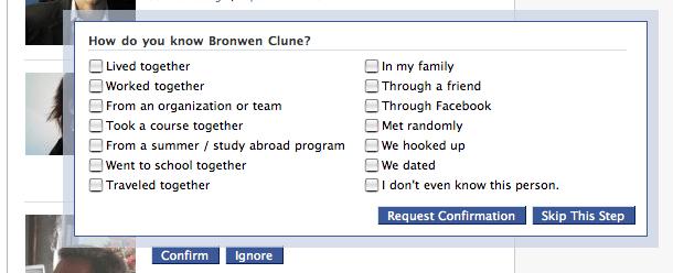 Facebook | Confirm Requests