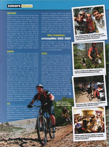SSEC article in Velo VERT magazine. Page 3
