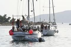 Barche a vela nel porto di Trogir