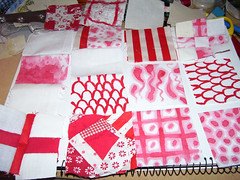 Red and white pieces