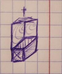 cubist chapel doodle