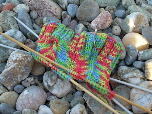 New sock at the beach / Jaywalker