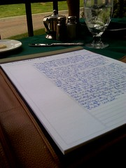 I write at lunch