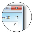 Switch views with this button