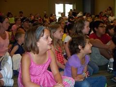 Crowd enjoying Lucas Miller's program