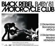 Gira de BLACK REBEL MOTORCYCLE CLUB en España a comienzos de diciembre