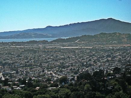 view of richmond from tilden park hills