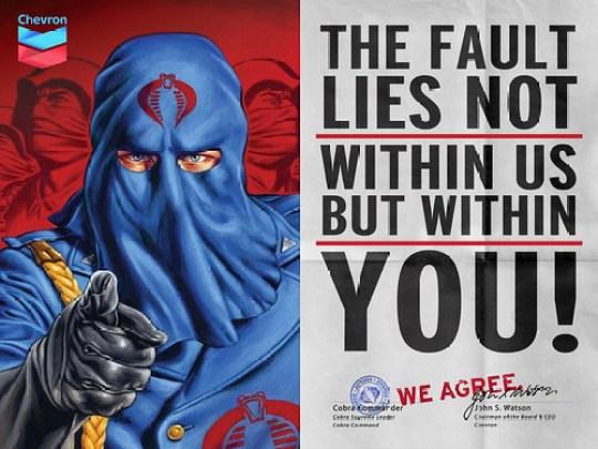 "Chevron & Cobra Commander ""We Agree"" Ad"